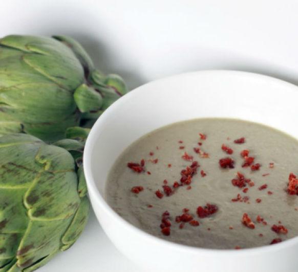 Comida ligera: Crema de alcachofas