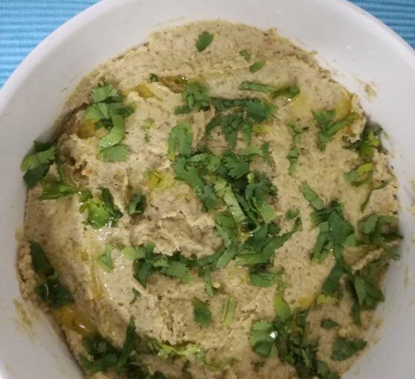 Hummus de lentejas hecho en Thermomix®