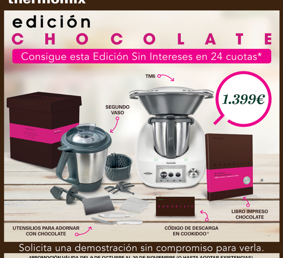 NUEVA EDICIÓN Thermomix® CHOCOLATE CON DOBLE VASO Y SIN INTERESES!!!