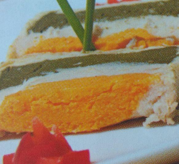 Pastel de Verduras con mahonesa de pistachos