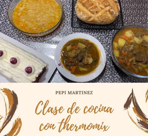 Clase de cocina con Thermomix® Estofado de ternera ,brazo de Gitano Tortilla de patatas ,Pan