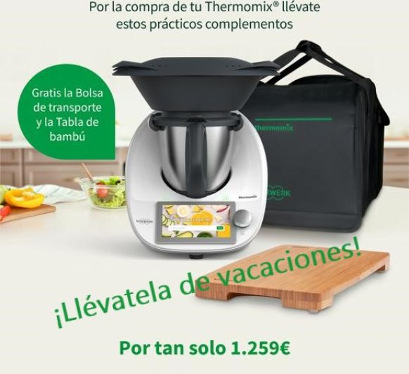 Thermomix® TM6 CON + BOLSA + TABLA GRATIS