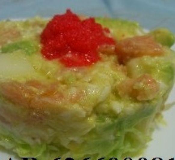 Ensalada de Patata con Salmón y Aguacate :