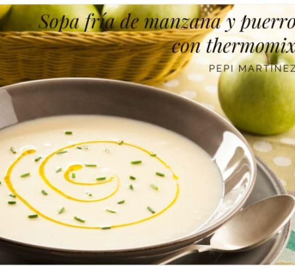 Sopa fría de manzana y puerro Con Thermimix