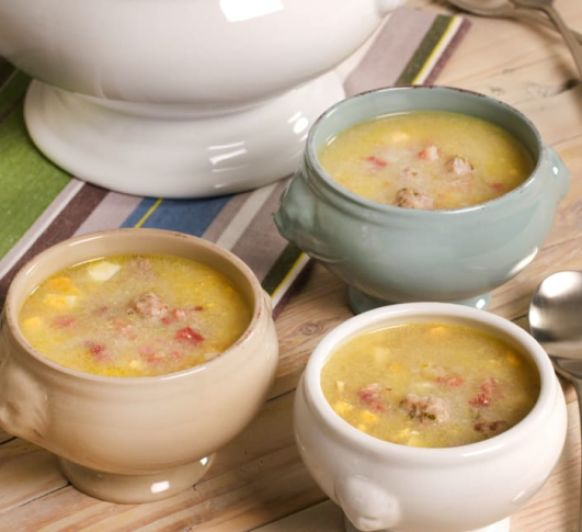 Sopa con Albondriguillas Con Thermomix®