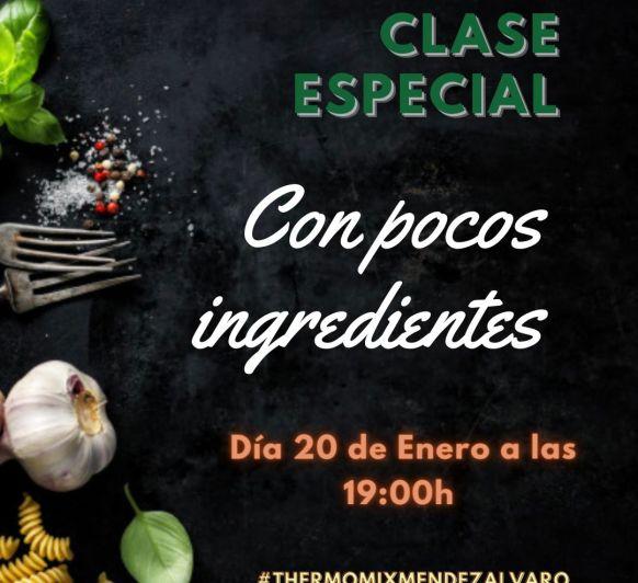 CON POCOS INGREDIENTES, clase de cocina con Thermomix®