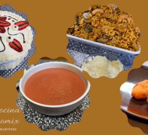 Clase de cocina con Thermomix® menú y tarta de fresas con nata