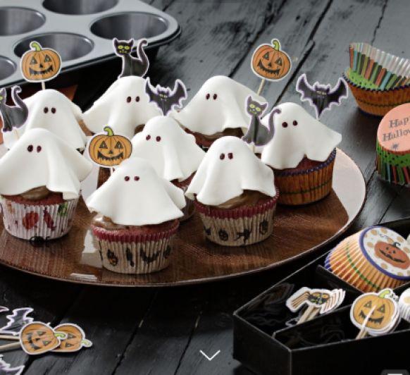 Cupcakes fantasma Halloween
