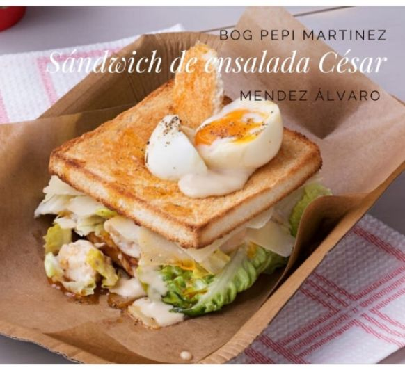 Sándwich de ensalada César con Thermomix®