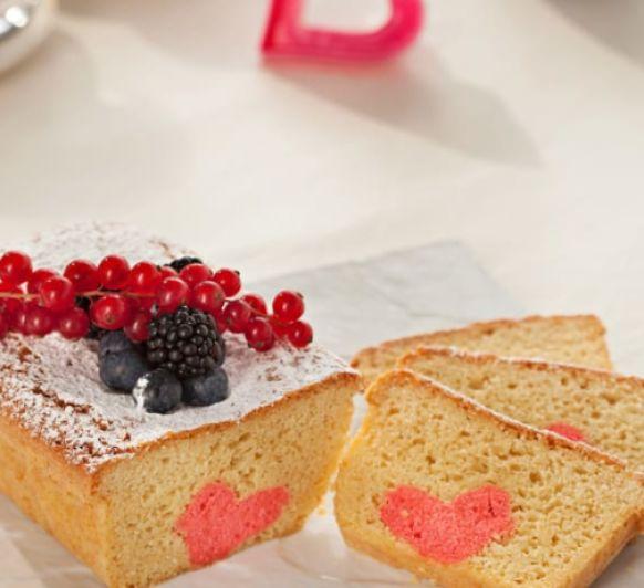 Cake con corazón de manzana ''San Valentín''