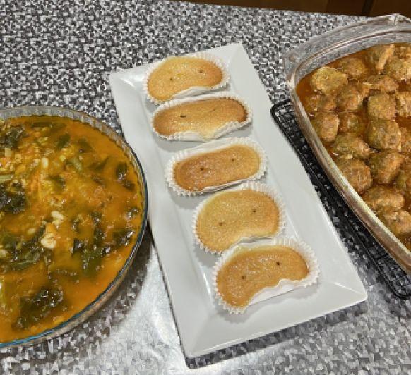 Clase de Cocina con Thermomix® Albóndigas en salsa,Arroz con acelgas,Financieros