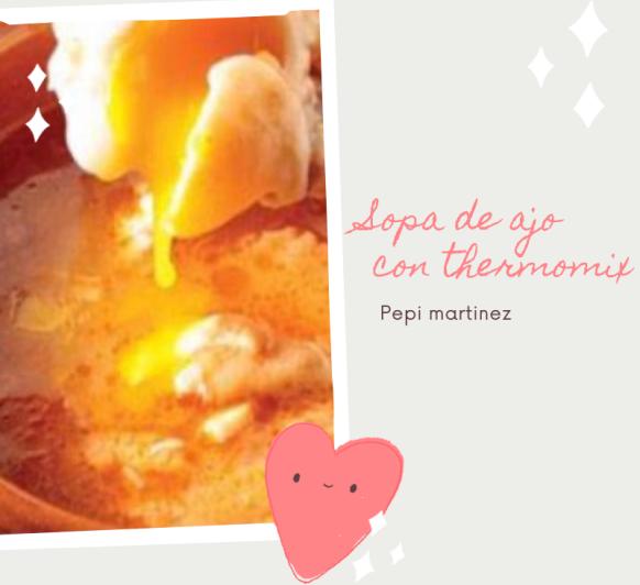 Sopa de ajo o castellana con Thermomix®