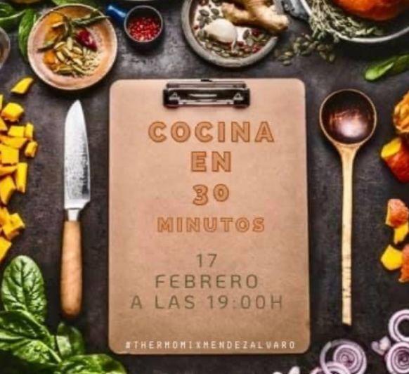 Las mejores recetas hechas en Thermomix® en menos de 30 minutos, apúntate a la clase de cocina