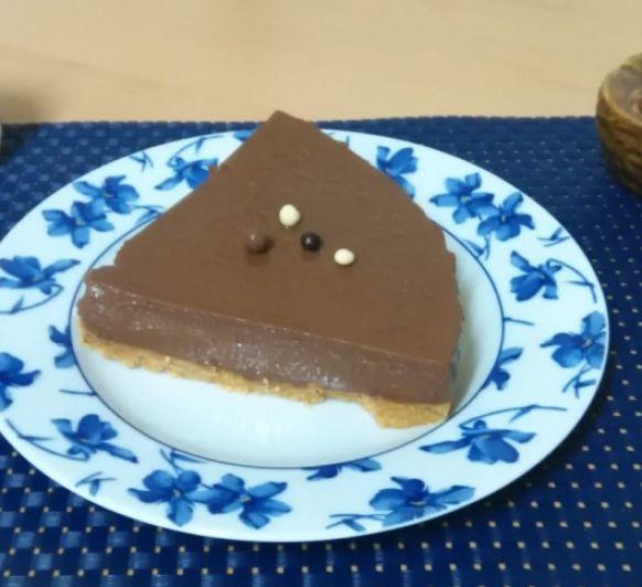 Tarta Mousse de chocolate con cuajada.