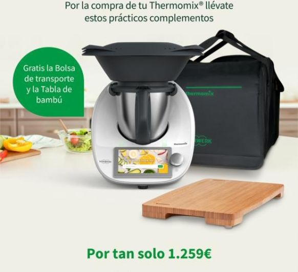 Thermomix® TM6 CON REGALO BOLSA DE TRANSPORTE Y TABLA