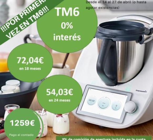 Edición Thermomix® al 0%,sin intereses .Madrid-Mendez Alvaro