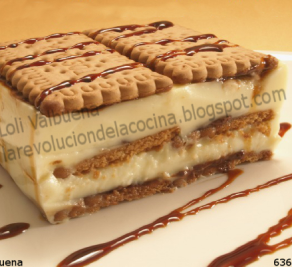 TARTA de GALLETAS con CREMA de CHOCOLATE BLANCO