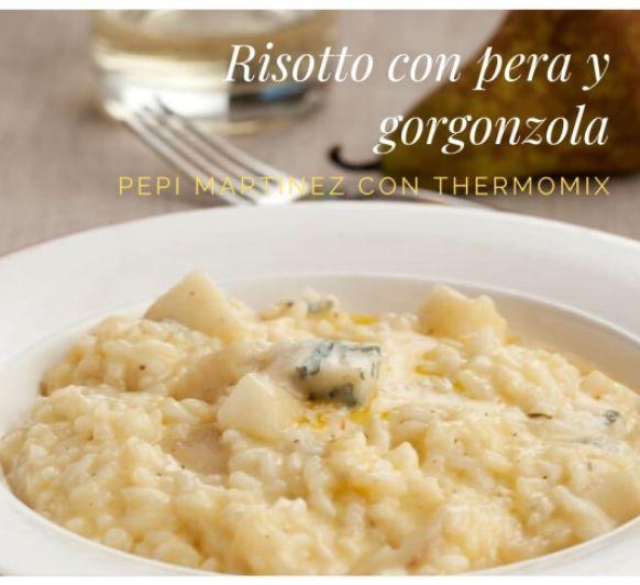 Risotto con pera y gorgonzola Con Thermomix® Pepi Martinez