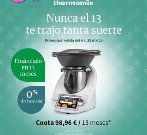TU Thermomix® SIN INTERESES HASTA EL 29 DE MARZO