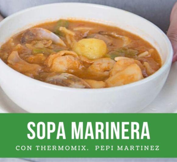 Sopa marinera Con Thermomix® Mendez Alvaro madrid