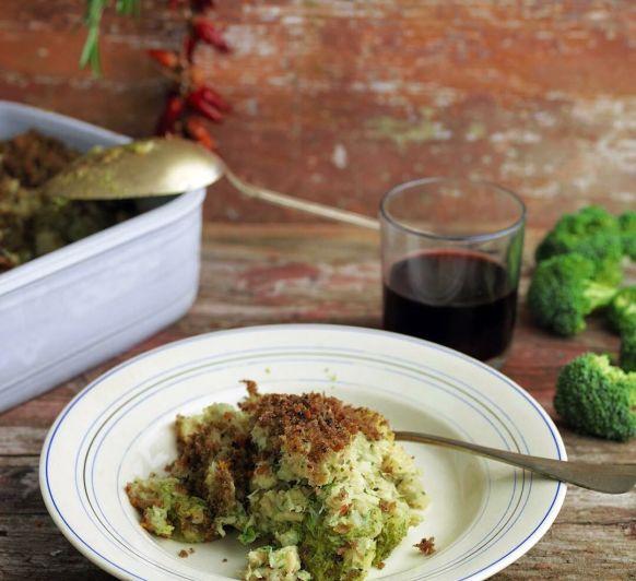 Bacalao al horno con brócoli.