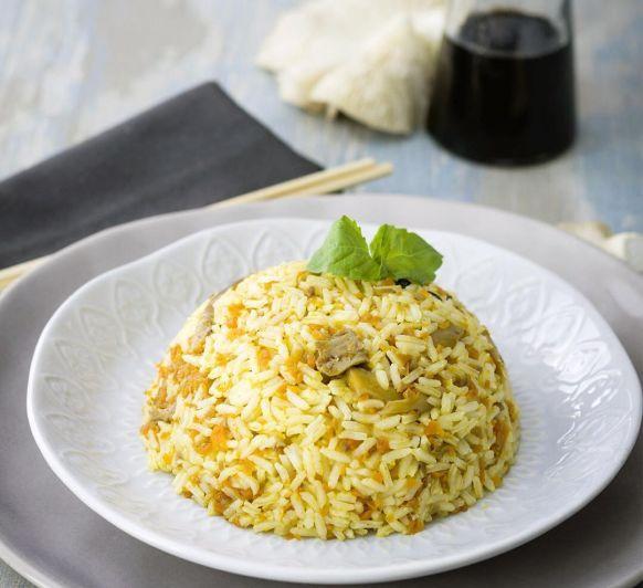 tailandesa ¡arroz thai con hongos