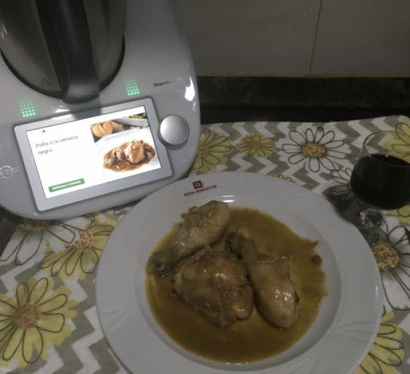 Pollo con cerveza negra con Thermomix®
