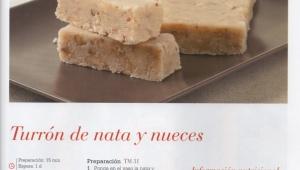 TURRÓN DE NATA Y NUECES